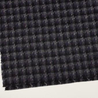 ウール&アクリル混×千鳥格子(バイオレット&ブラック)×かわり織_全3色 サムネイル2