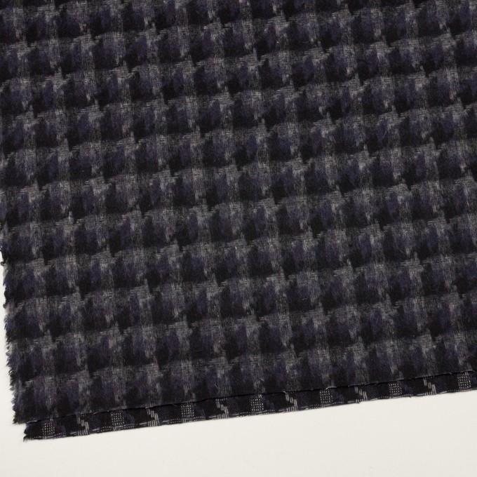 ウール&アクリル混×千鳥格子(バイオレット&ブラック)×かわり織_全3色 イメージ2