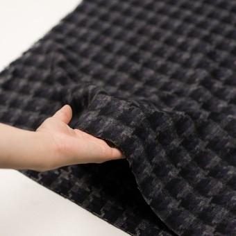 ウール&アクリル混×千鳥格子(バイオレット&ブラック)×かわり織_全3色 サムネイル5