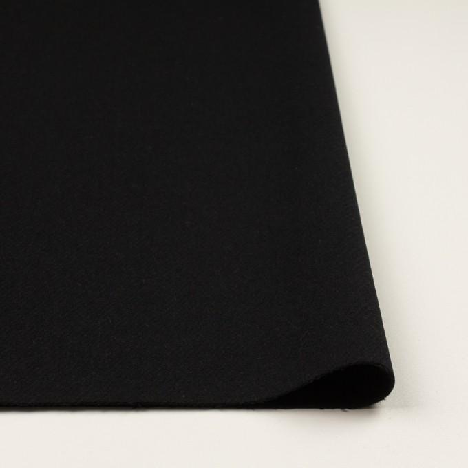 ウール×無地(ブラック)×カルゼ イメージ3
