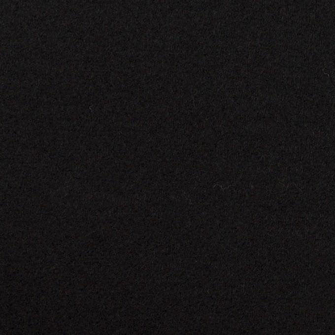 ウール×無地(ブラック)×ソフトメルトン イメージ1