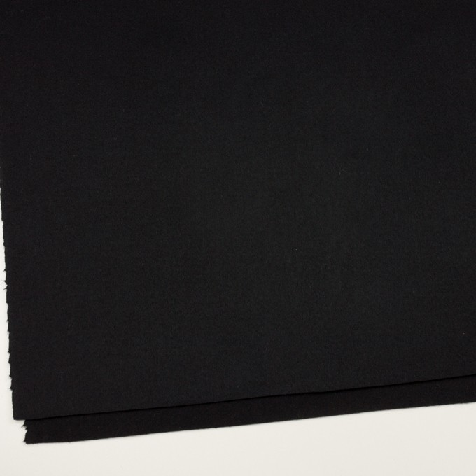ウール&ナイロン×無地(ブラック)×ソフトメルトン イメージ2