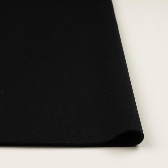 ウール&ナイロン×無地(ブラック)×ソフトメルトン イメージ3