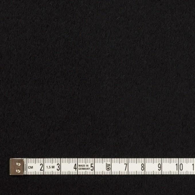 ウール&ナイロン×無地(ブラック)×ソフトメルトン イメージ4