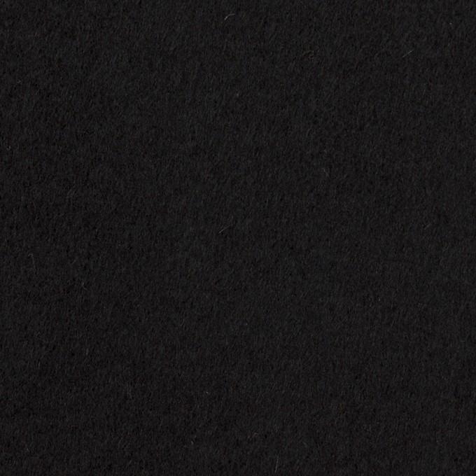 ウール&ナイロン×無地(ブラック)×ソフトメルトン イメージ1