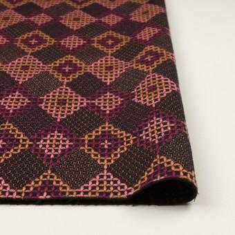 ウール×ダイヤ(アプリコット、ピンク&パープル)×フラノ刺繍 サムネイル3