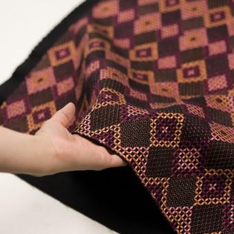 ウール×ダイヤ(アプリコット、ピンク&パープル)×フラノ刺繍 サムネイル5
