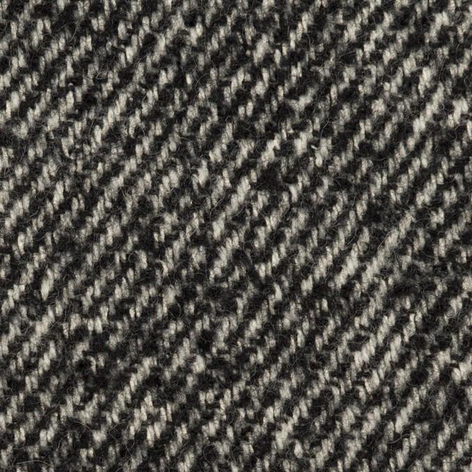 ウール×ミックス(ブラック&アイボリー)×ファンシーツイード イメージ1
