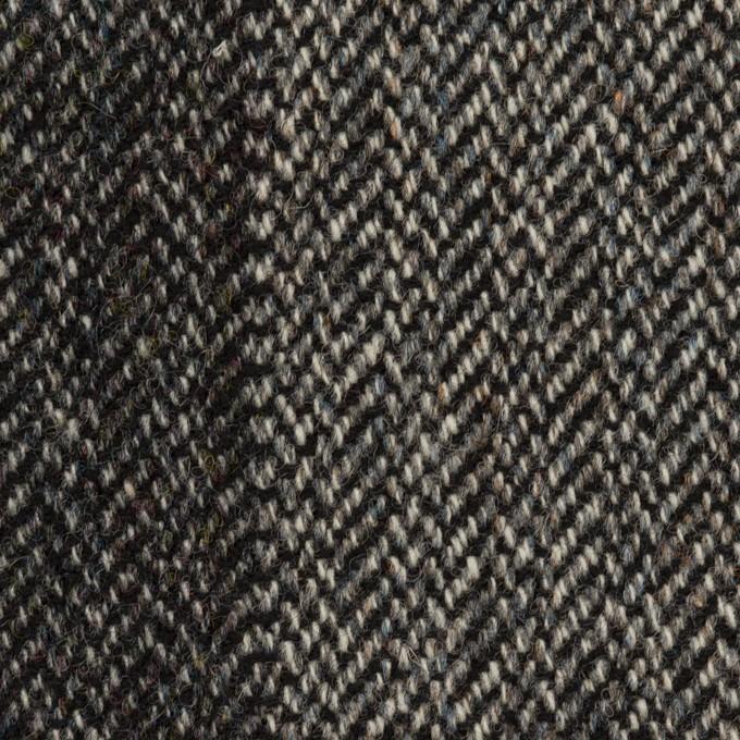 ウール&アクリル混×ミックス(チャコールグレー&チャコール)×ツイード イメージ1