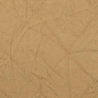 【140cmカット】コットン&レーヨン混×無地(カーキベージュ)×サージワッシャー
