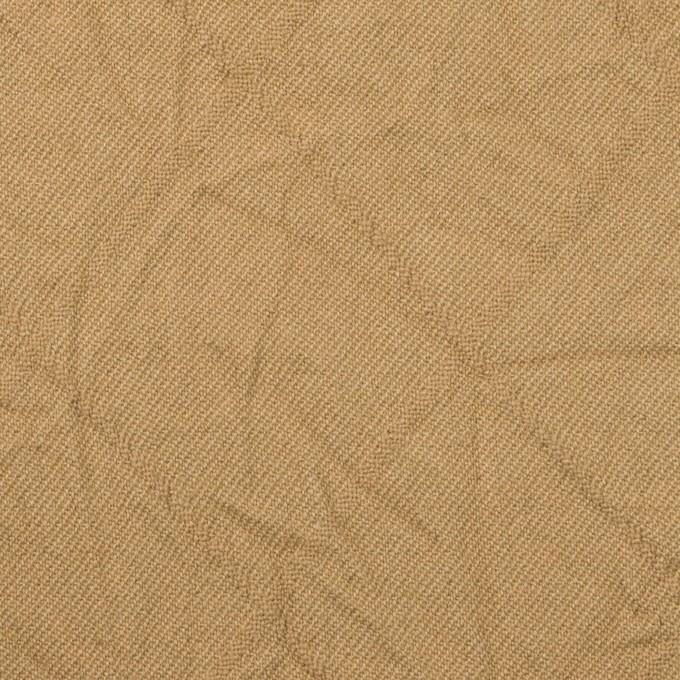 コットン&レーヨン混×無地(カーキベージュ)×サージワッシャー イメージ1