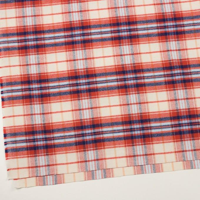 コットン×チェック(レッド、ブルー&サックス)×フランネル イメージ2