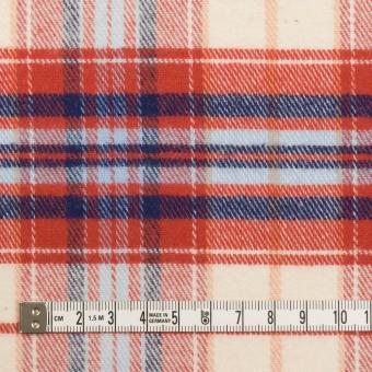 コットン×チェック(レッド、ブルー&サックス)×フランネル サムネイル4
