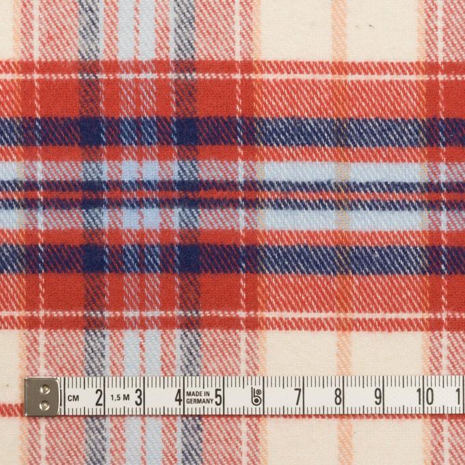 コットン×チェック(レッド、ブルー&サックス)×フランネル イメージ4