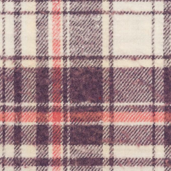 コットン×チェック(パープル&バニラ)×フランネル イメージ1