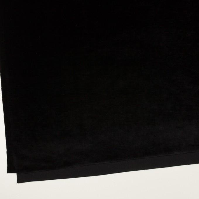 ポリエステル×無地(ブラック)×ベロアニット イメージ2