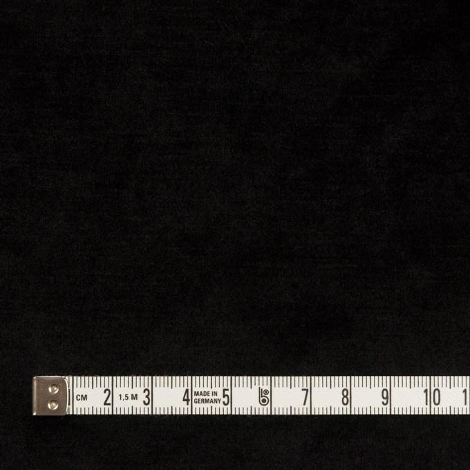 ポリエステル×無地(ブラック)×ベロアニット イメージ4