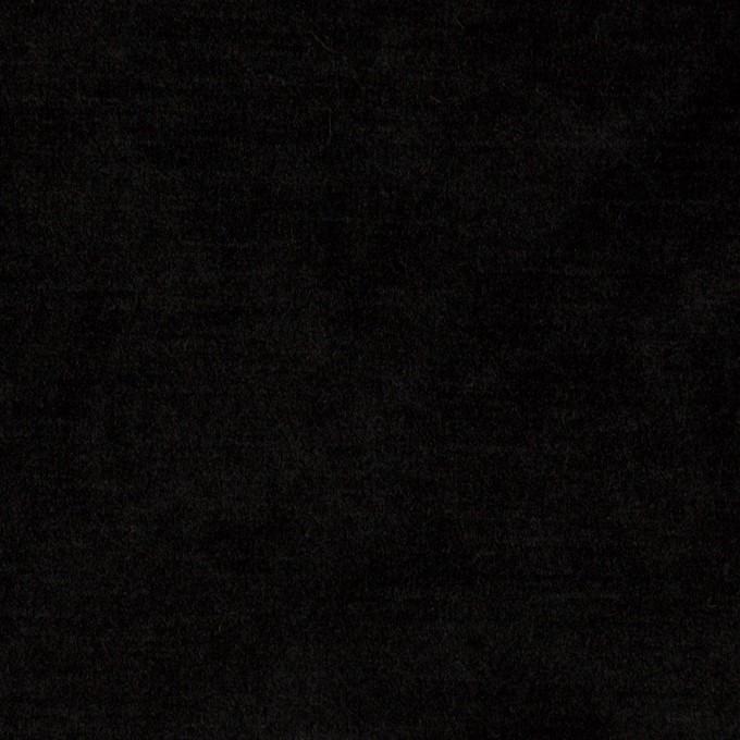 ポリエステル×無地(ブラック)×ベロアニット イメージ1