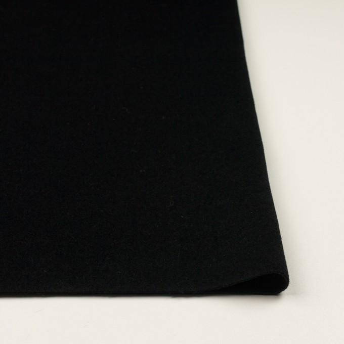 アンゴラ&ウール×無地(ブラック)×ビーバー イメージ3