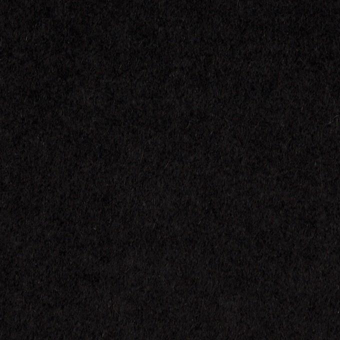 アンゴラ&ウール×無地(ブラック)×ビーバー イメージ1