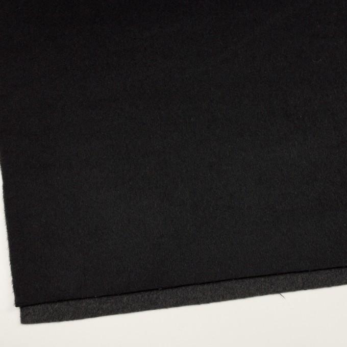 ウール&カシミア×無地(ブラック&チャコールグレー)×ビーバー&フラノ(Wフェイス) イメージ2