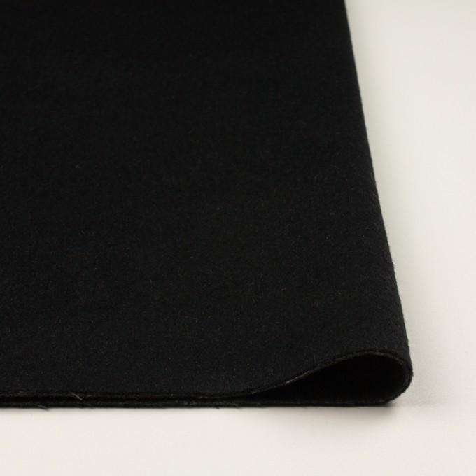 ウール&カシミア×無地(ブラック&チャコールグレー)×ビーバー&フラノ(Wフェイス) イメージ3