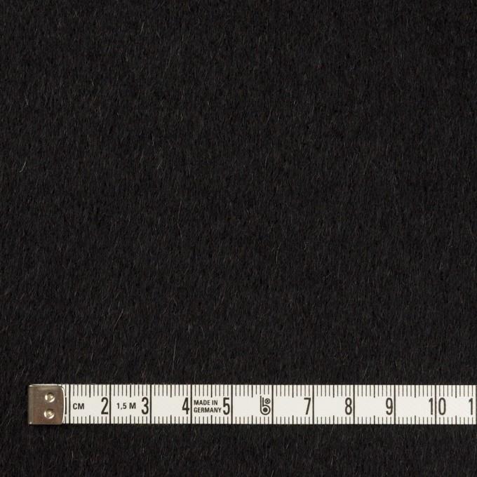 ウール&カシミア×無地(ブラック&チャコールグレー)×ビーバー&フラノ(Wフェイス) イメージ4