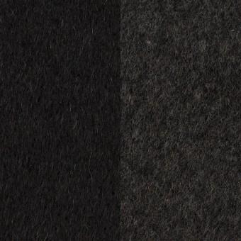 ウール&カシミア×無地(ブラック&チャコールグレー)×ビーバー&フラノ(Wフェイス)
