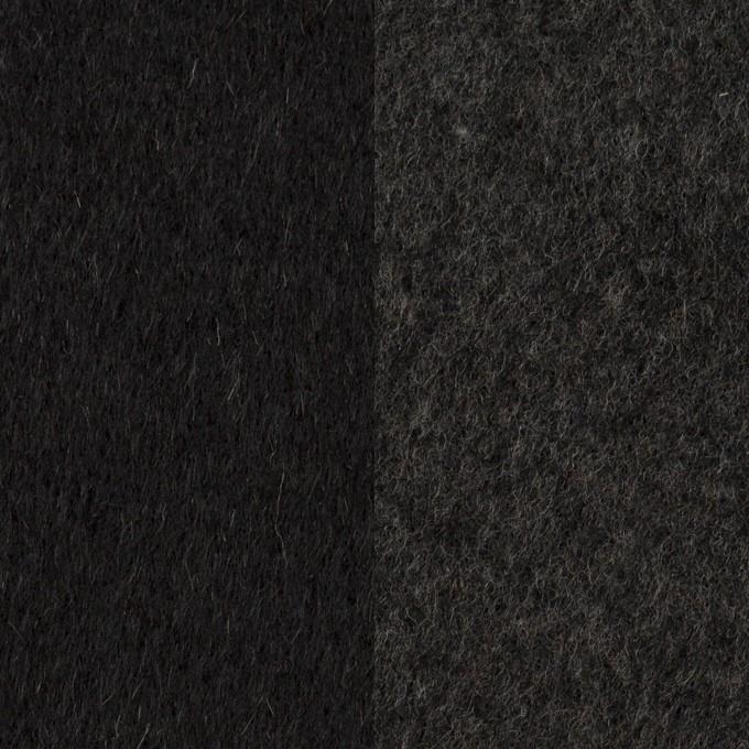 ウール&カシミア×無地(ブラック&チャコールグレー)×ビーバー&フラノ(Wフェイス) イメージ1