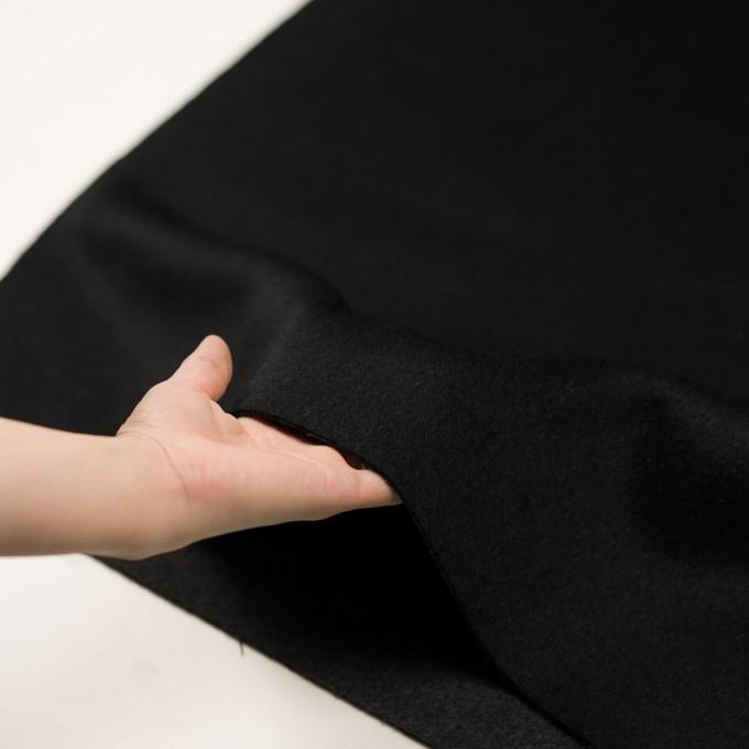 ウール&カシミア×無地(ブラック&チャコールグレー)×ビーバー&フラノ(Wフェイス) イメージ5