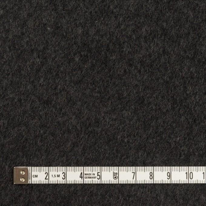 ウール&カシミア×無地(ブラック&チャコールグレー)×ビーバー&フラノ(Wフェイス) イメージ6