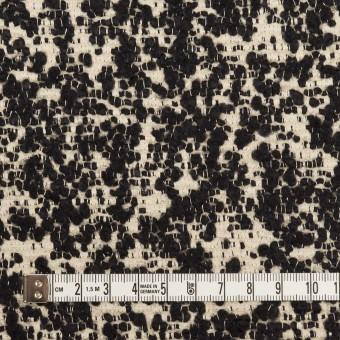 コットン&ウール混×ミックス(キナリ&ブラック)×二重織 サムネイル4