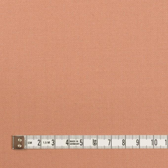 ウール×無地(テラコッタ)×サージ イメージ4