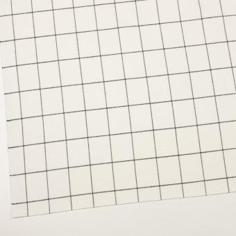 ポリエステル&レーヨン混×チェック(ミルク&ブラック)×サージストレッチ サムネイル2