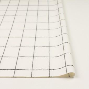 ポリエステル&レーヨン混×チェック(ミルク&ブラック)×サージストレッチ サムネイル3