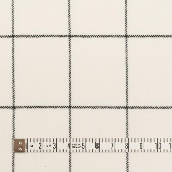 ポリエステル&レーヨン混×チェック(ミルク&ブラック)×サージストレッチ イメージ4