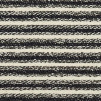 コットン×ボーダー(キナリ&ブラック)×二重織