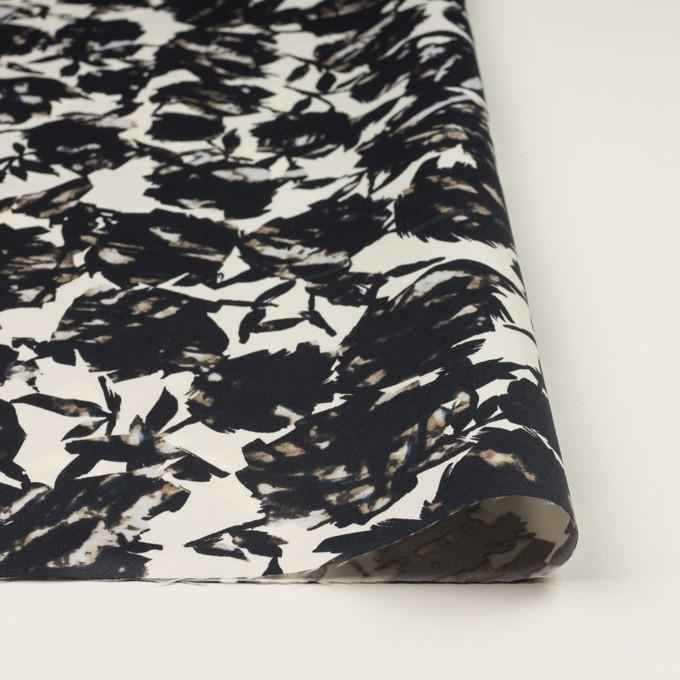 ポリエステル×幾何学模様(キナリ&ブラック)×サテン イメージ3