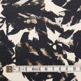 ポリエステル×幾何学模様(キナリ&ブラック)×サテン サムネイル4