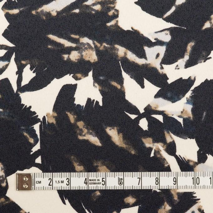 ポリエステル×幾何学模様(キナリ&ブラック)×サテン イメージ4