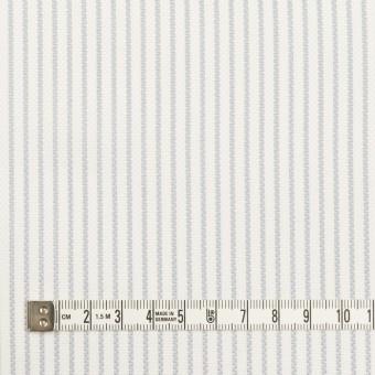 コットン×ストライプ(ブルーグレー)×斜子織 サムネイル4