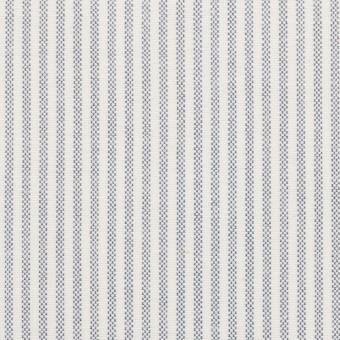 コットン×ストライプ(ブルー)×オックスフォード_全3色
