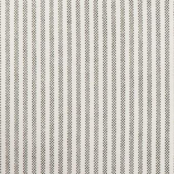 コットン×ストライプ(ブラック)×オックスフォード_全3色