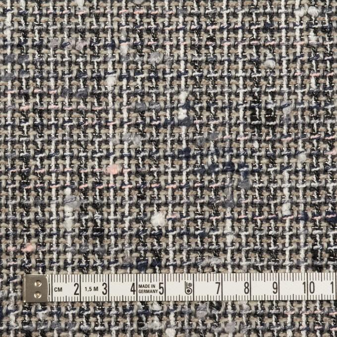 ポリエステル&ウール混×ミックス(グレー)×ファンシーツイード_全3色 イメージ4