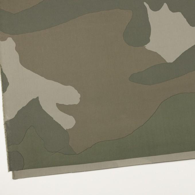 コットン×幾何学模様(カーキグリーン)×ブロード イメージ2