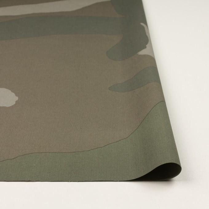 コットン×幾何学模様(カーキグリーン)×ブロード イメージ3