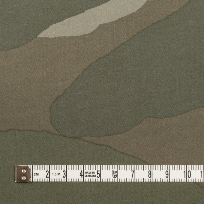 コットン×幾何学模様(カーキグリーン)×ブロード イメージ4