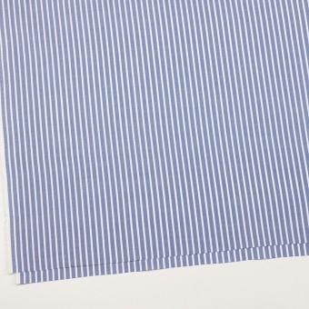 コットン×ストライプ(ブルー)×斜子織 サムネイル2