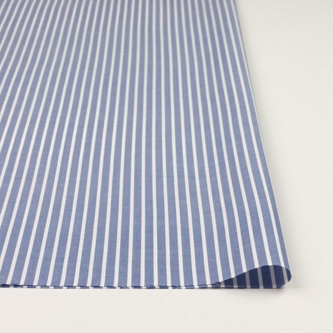 コットン×ストライプ(ブルー)×斜子織 イメージ3