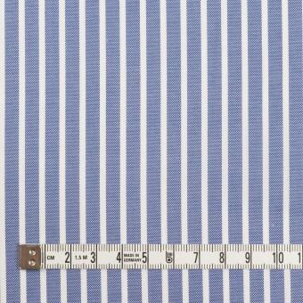 コットン×ストライプ(ブルー)×斜子織 サムネイル4